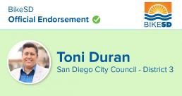 Toni Duran Endorsement